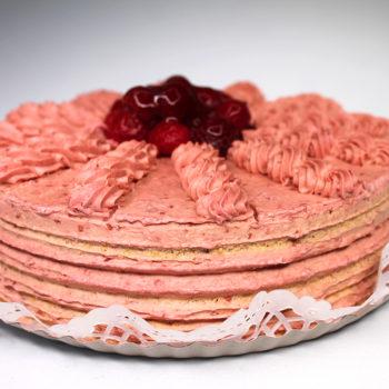 Gluténmentes, lisztmentes, cukormentes, tejmentes, laktózmentes, tartósítószer-mentes, térfogatnövelő-mentes, habosítómentes, ízfokozómentes, színezékmentes, idegméregmentes, mindenmentes, egészséges, Paleo Málnakrém torta