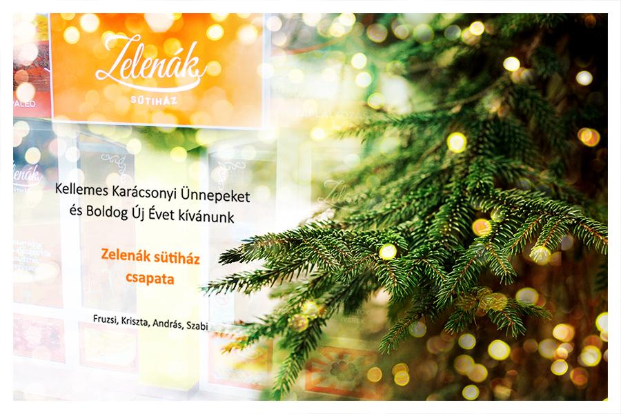 Kellemes Karácsonyi Ünnepeket Kíván a Zelenák Sütiház!
