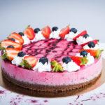 Paleo vegán erdei gyümölcs torta