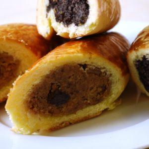 Gluténmentes, tejmentes, cukormentes mákos pozsonyi kifli 110-120g