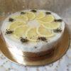 Paleo-Vegán Bazsalikomos citromtorta - 20 szeletes egész torta