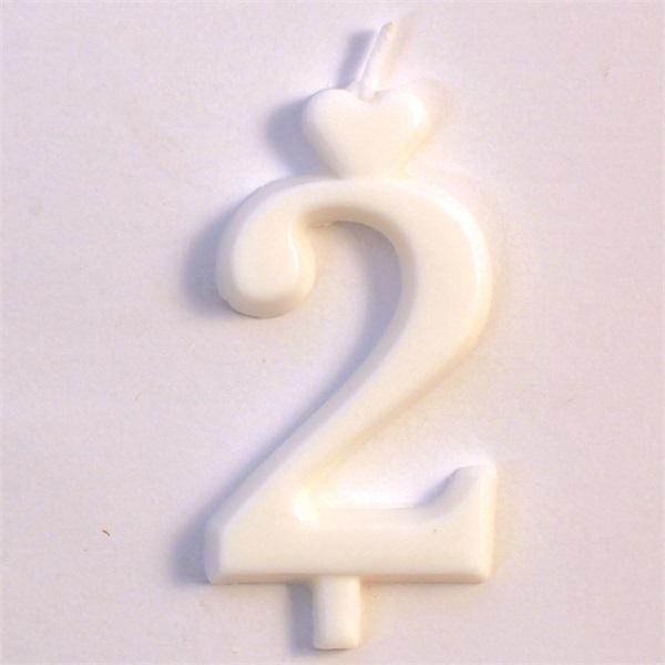 GYK TORTAGYERTYA SZAM FEHER 2 15 DBDOBOZ i16701