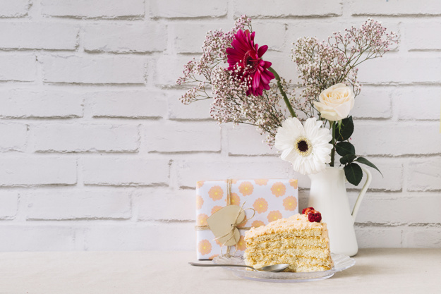 floral mother day concept with cake 23 2147782652