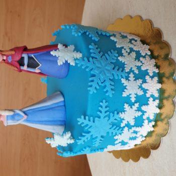 Jégvarázs: Elza és Anna torta