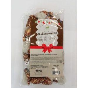Health Market Kakaos rumos izu szaloncukor kokusz alapu martocsokoladeval 450g GLUTENMENTES HOZZAADOTT CUKROT NEM TARTALMAZ PALEO VEGAN